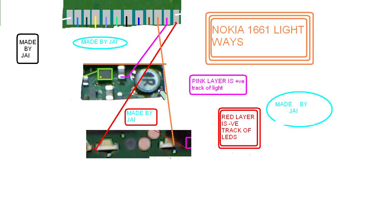 Nokia 1661 Light Solution, Path how to jumper it.