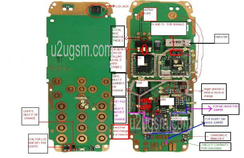 Nokia 2610 All Lay Out Diagram Links Whole Board Tracks Tracing Manual