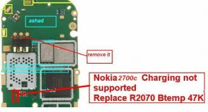 charging not supported and charging problem in nokia 2700 classic as