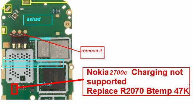 ... supported and charging problem in nokia 2700 classic as given bellow