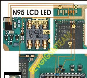 n9520lcd20led 300x268 - Nokia N95 Lcd Lights problem solution here.
