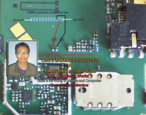 Nokia 1202 Lcd Light Led Problem Solution