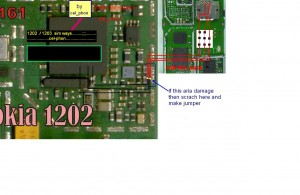 1202simways 300x195 - Nokia 1202 sim ways if sim ic prints damages. solution without sim ic jumpers