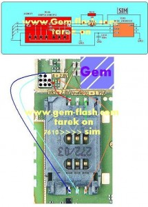 7610sim2 215x300 - Nokia 7610 insert sim problem solution ways jumpers without sim ic.