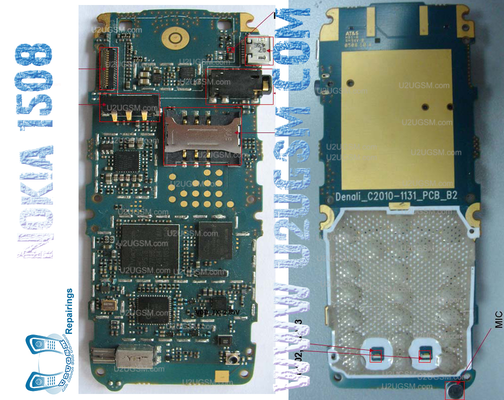 Nokia 1508 Full Pcb Diagram Mother Board
