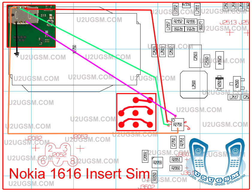 problem in Nokia 1616 SIM then this can be resolved with a few jumpers