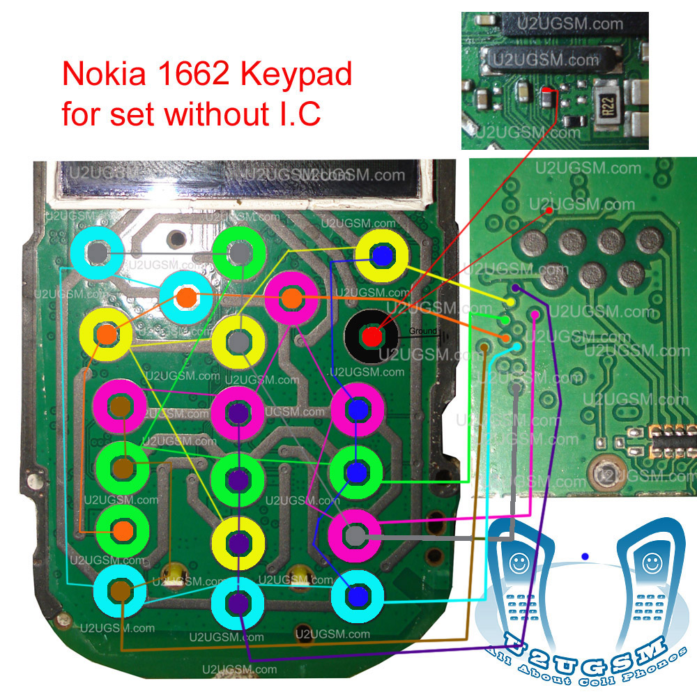 Nokia 1662 Keypad Ways Without Sim Ic Problem Solution Jumpers.