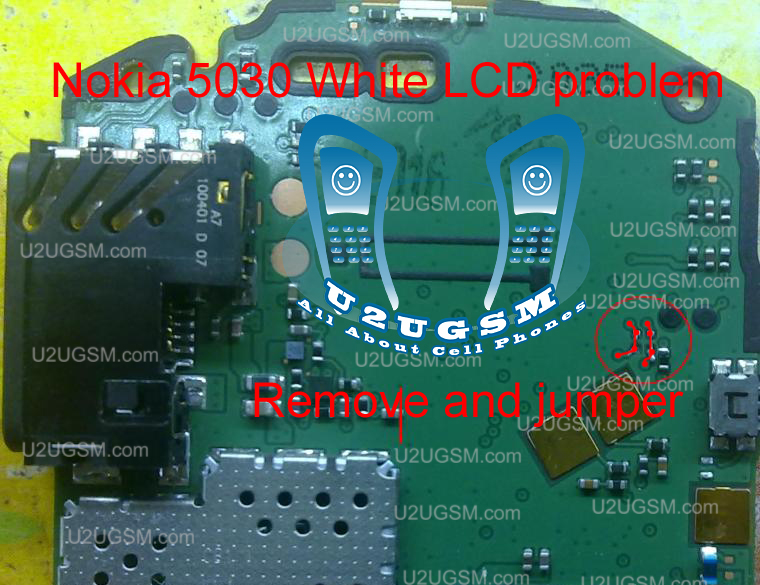 to solve white display lcd problem in nokia 5030 you do not need to