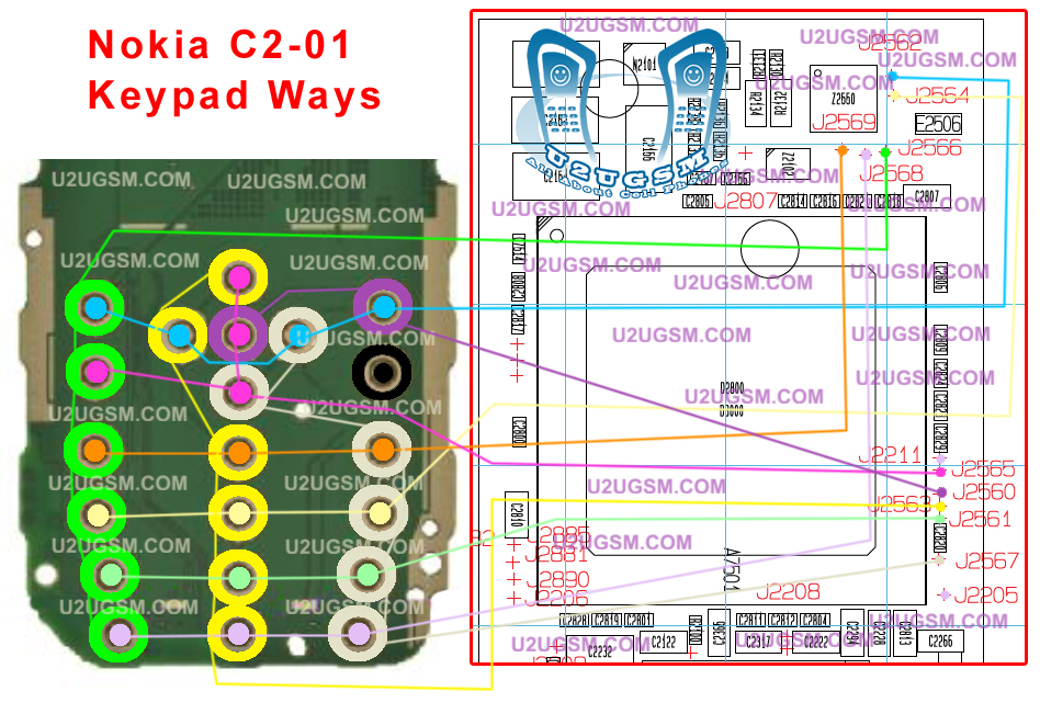 C2-01 Nokia Keypad Not Working IC Jumper Ways Filter Problem Solution