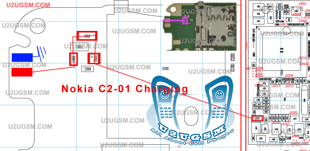 C2-01 Nokia Not Charging Problem Solution Charge Jumper Ways