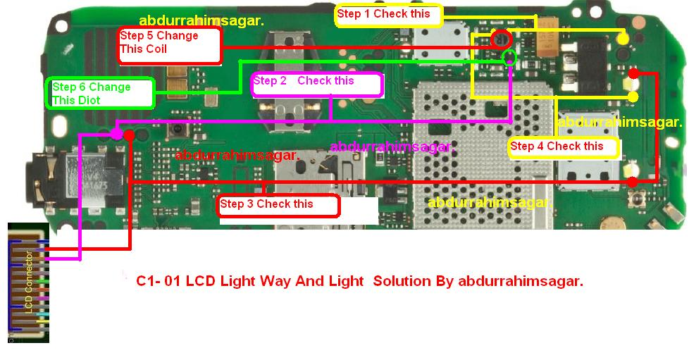 nokia c1-01 led light ways tested working problem is solved.