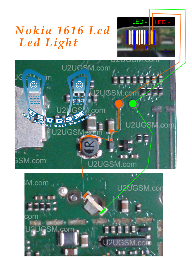 Nokia 1800 lcd led keypad lights solution jumpers tracks mobile look mozeypictures Image collections
