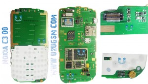 Nokia C3-00 Full PCB Diagram Mother Board Layout.