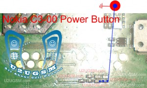 Nokia C3-00 Power Button Not Working Problem Solution Jumpers.
