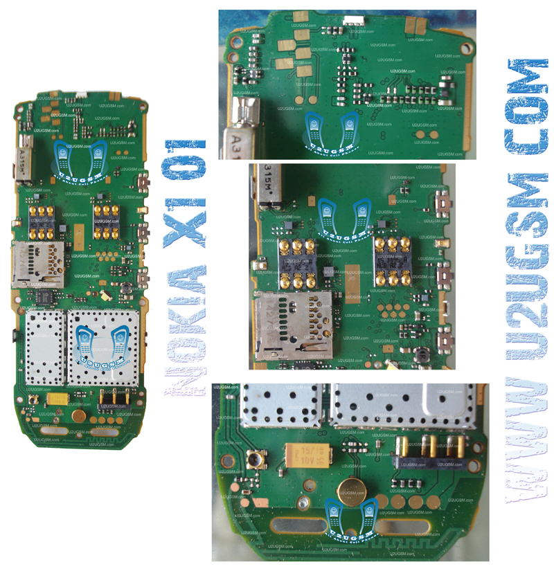 Nokia X1-01 Full PCB Diagram Mother Board Layout.-m