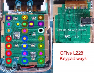 Gfive  L228 keypad not working problem solution jumpers ways.