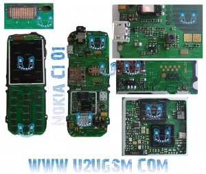 Nokia C1-01 Full PCB Diagram Mother Board Layout.
