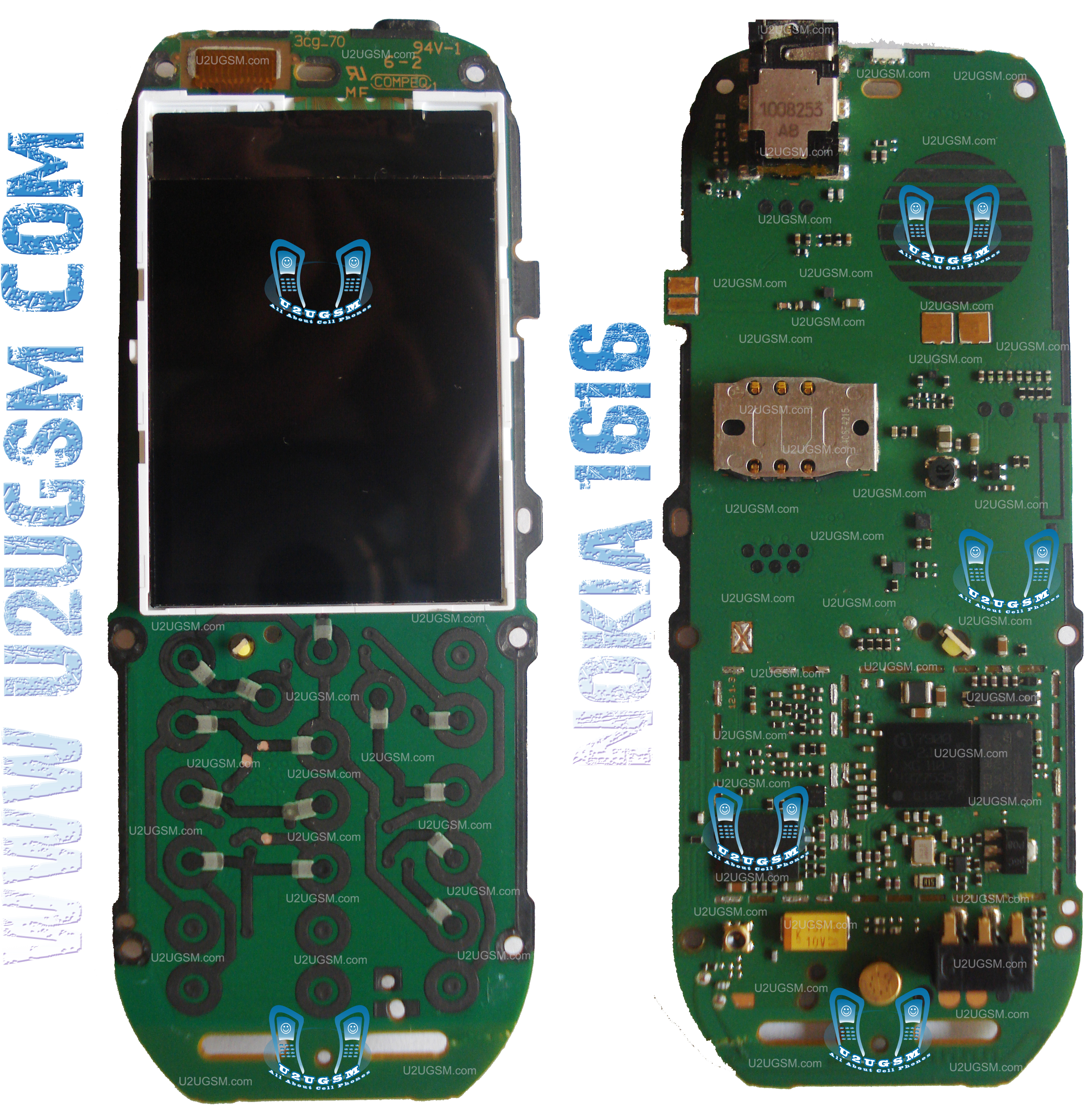 Nokia 1616 Full PCB Diagram Mother Board Layout.