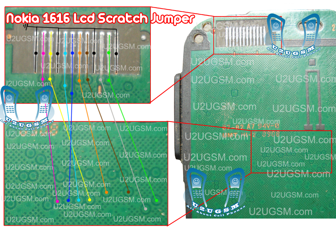 Nokia 1616 Lcd Display Scratch Jumpers.
