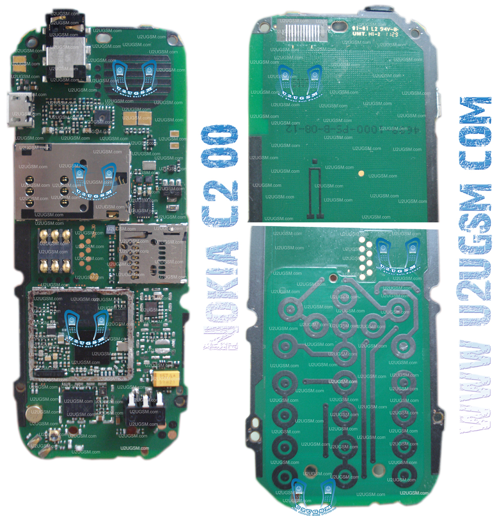 Nokia C2-00 Full PCB Diagram Mother Board Layout.