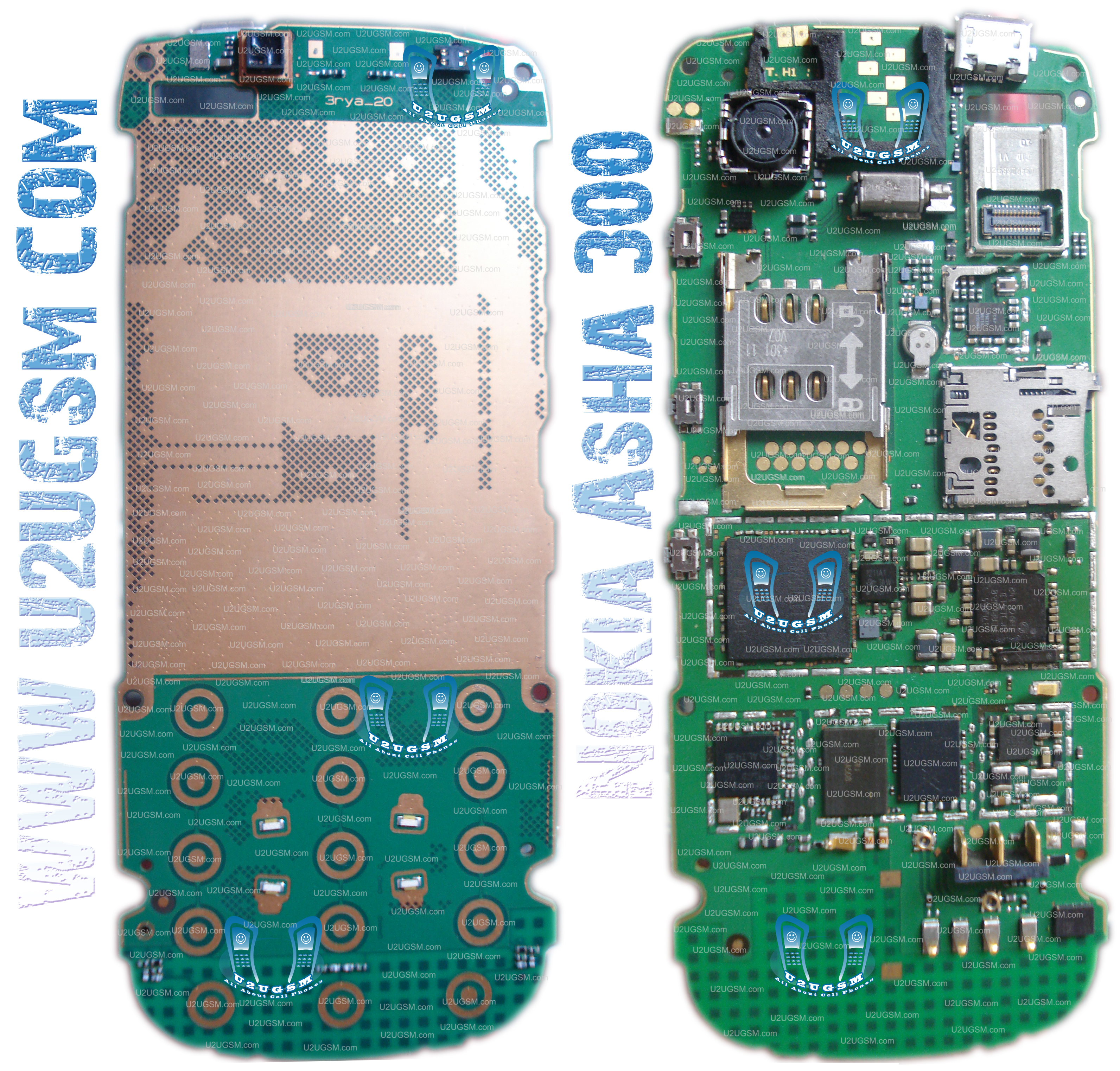 Nokia Asha 300 Full Pcb Diagram Mother Board Layout