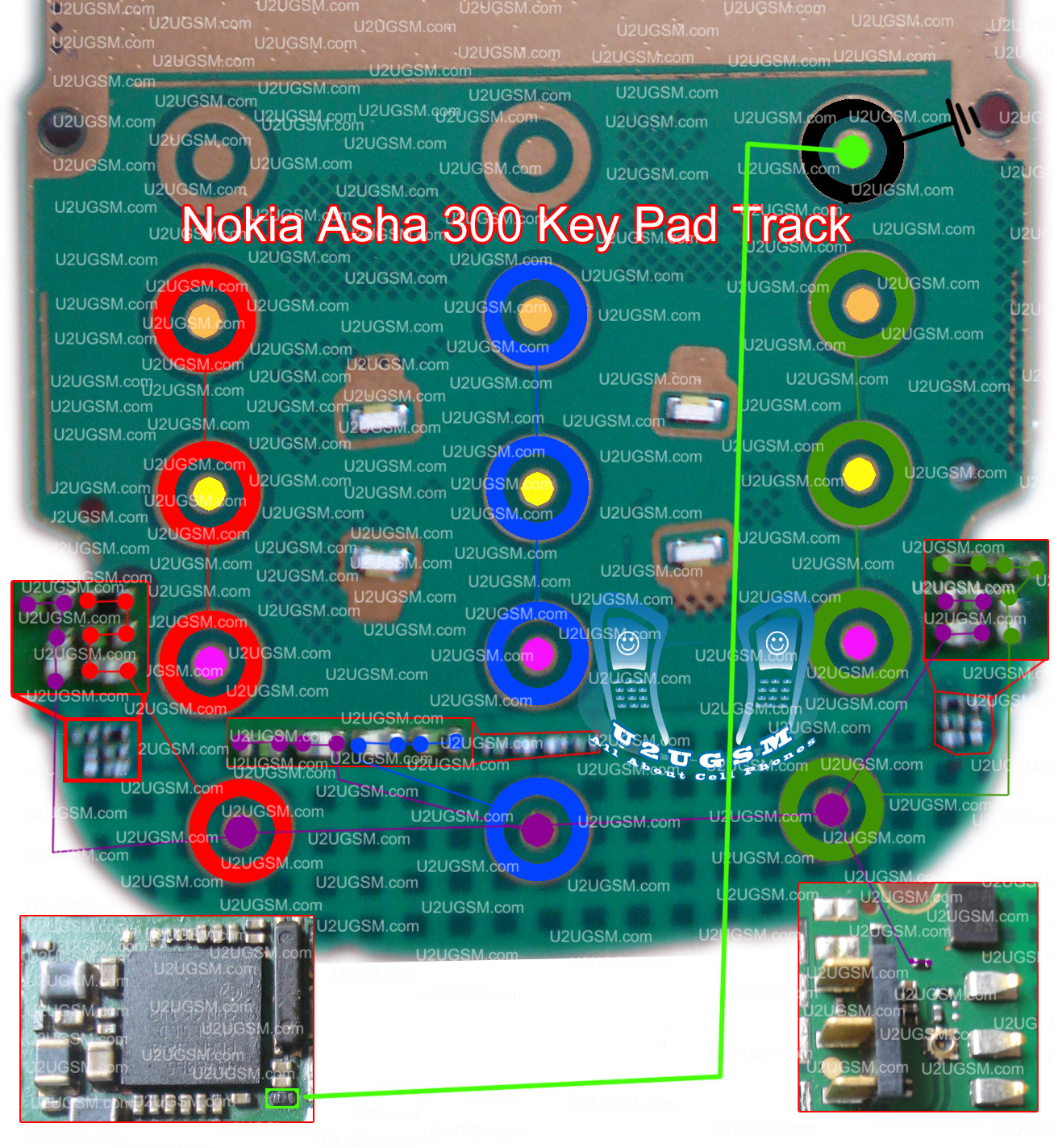 Nokia Asha 300 Keypad Not Working Problem Solution Jumpers