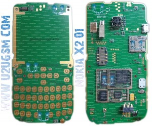 Nokia X2-01 Full PCB Diagram Mother Board Layout.