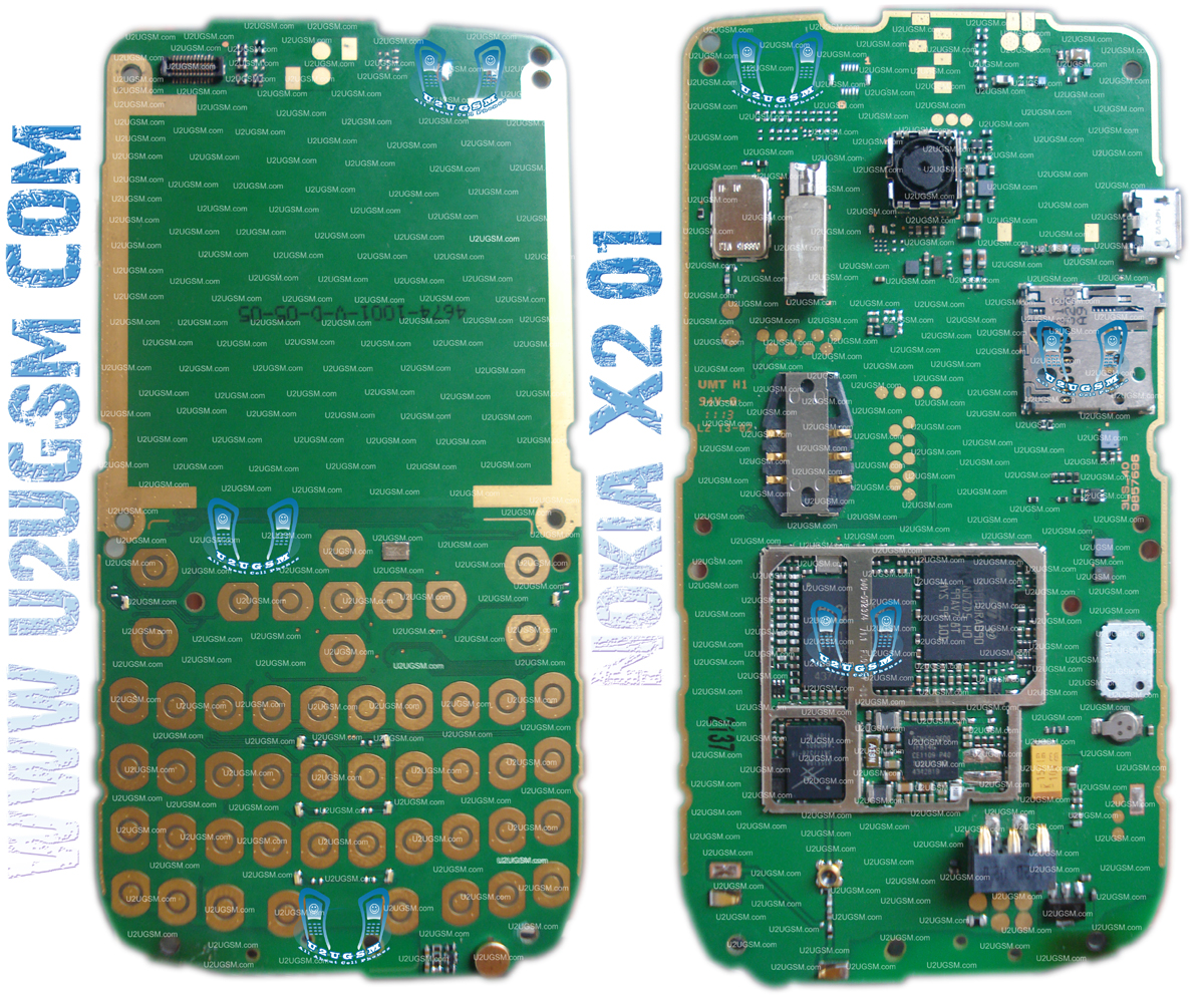 Nokia X2-01 Full PCB Diagram Mother Board Layout-m