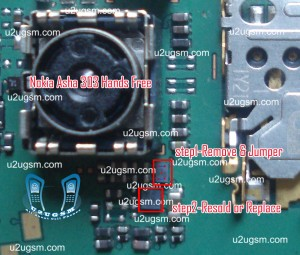 Nokia Asha 303 hand free open problem jumpers solution