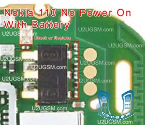 Nokia 111 No Power With Battery Solution 100% Tested