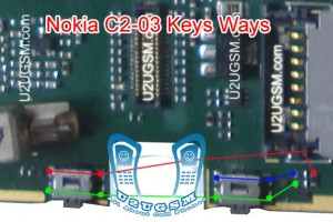 Nokia C2-02 Voluem Up Down Keys Not Working Problem Solution Jumpers