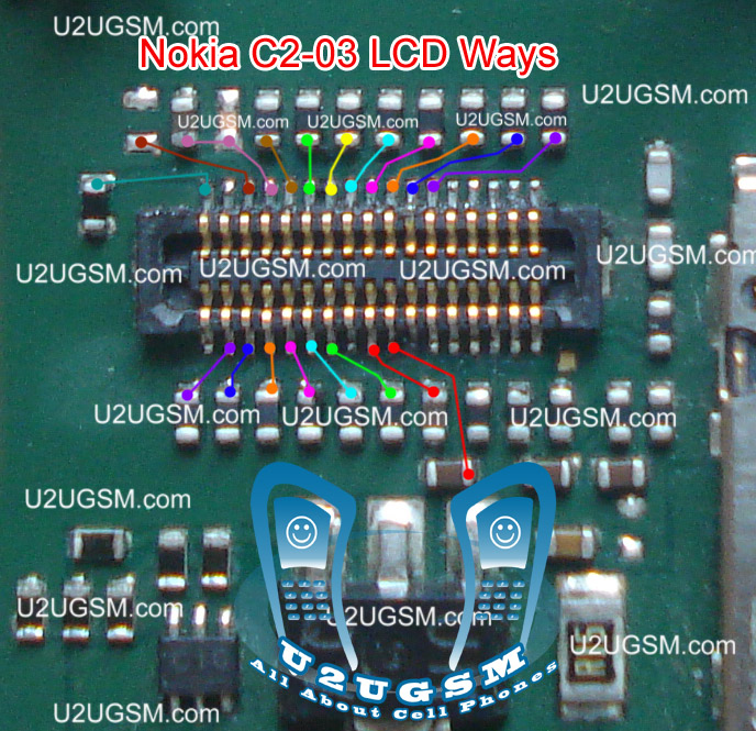 Nokia C2-06 Lcd Display Problem Solution Ways Jumpers
