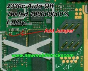 Nokia 2323 Auto Power Off Shutdown Hang Problem Solution