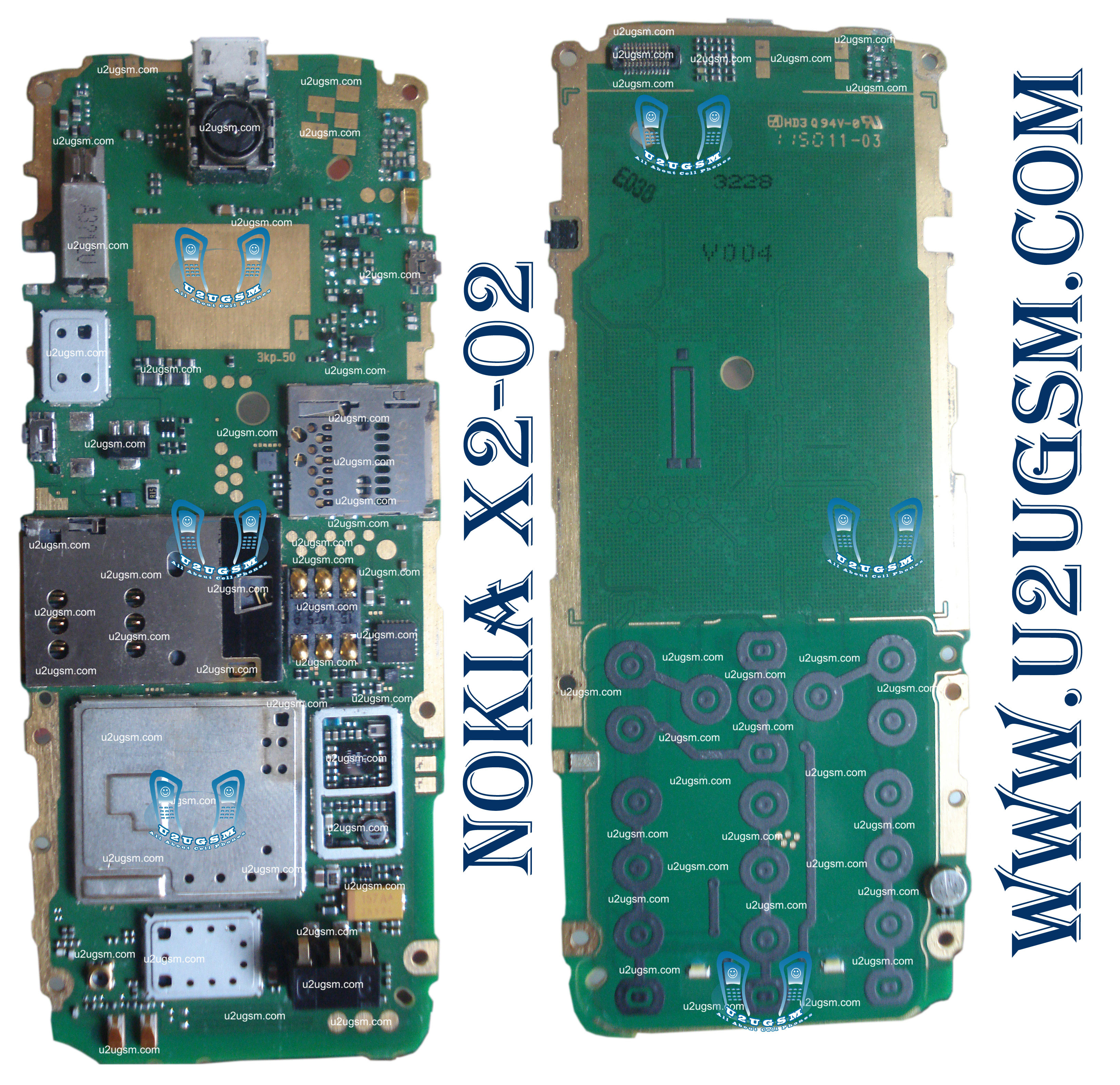 nokia x2 02 full pcb diagram mother board layout
