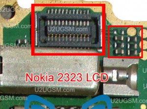 Nokia 2320 LCD display problem solution