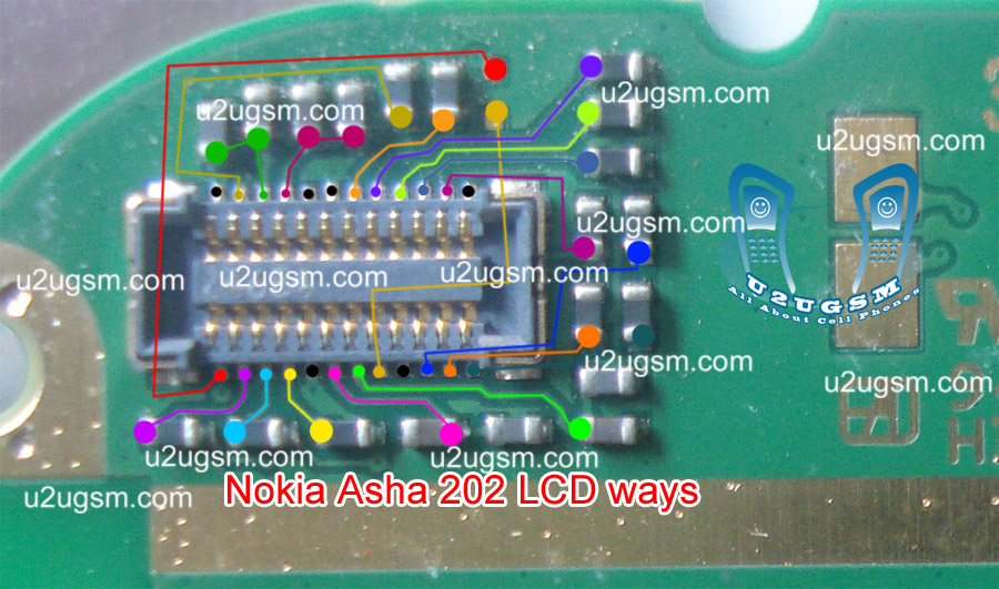 Nokia Asha 203 Lcd display problem solution with jumpers