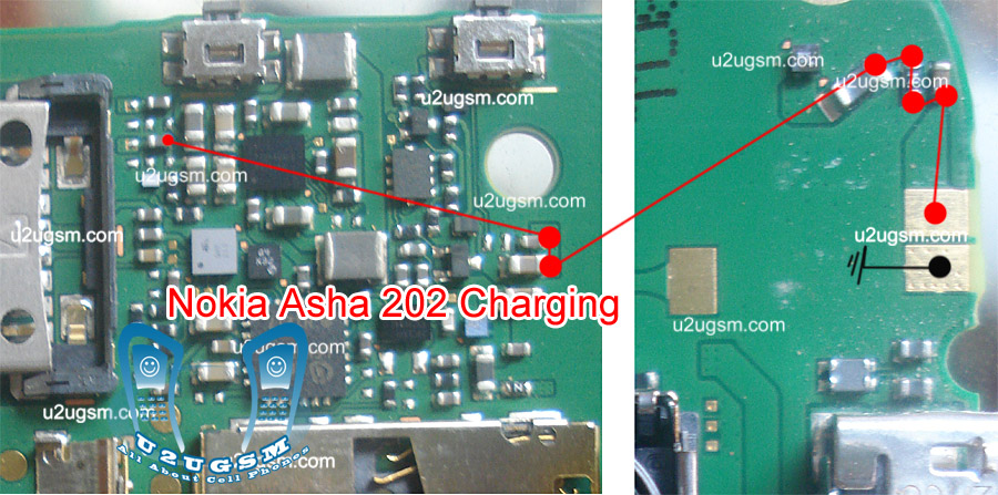 Nokia Asha 203 Not charging problem solution jumpers