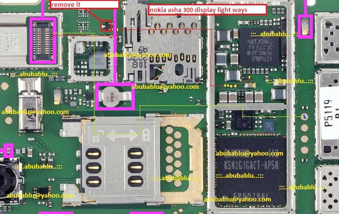 If you have LCD LED light problem in Nokia Asha 300. It can be solve