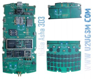 Nokia Asha 303 Full PCB Diagram Mother Board Layout.
