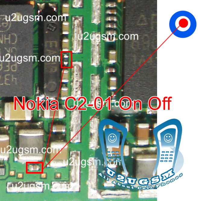 Nokia C2-01 power button On Off switch not working ways jumpers