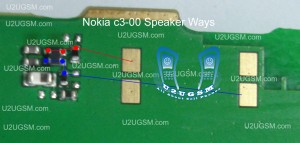 Nokia C3-00 Speaker Earpiece Not Working Problem Solution Jumpers.
