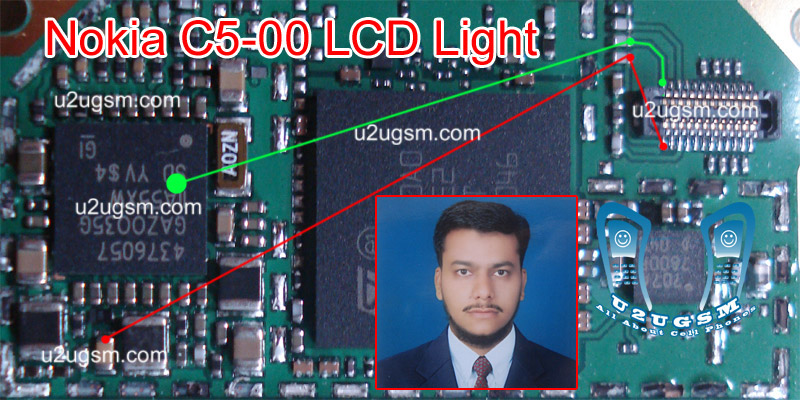 If nokia C5 lcd light is not working, Nokia C5 display light is not
