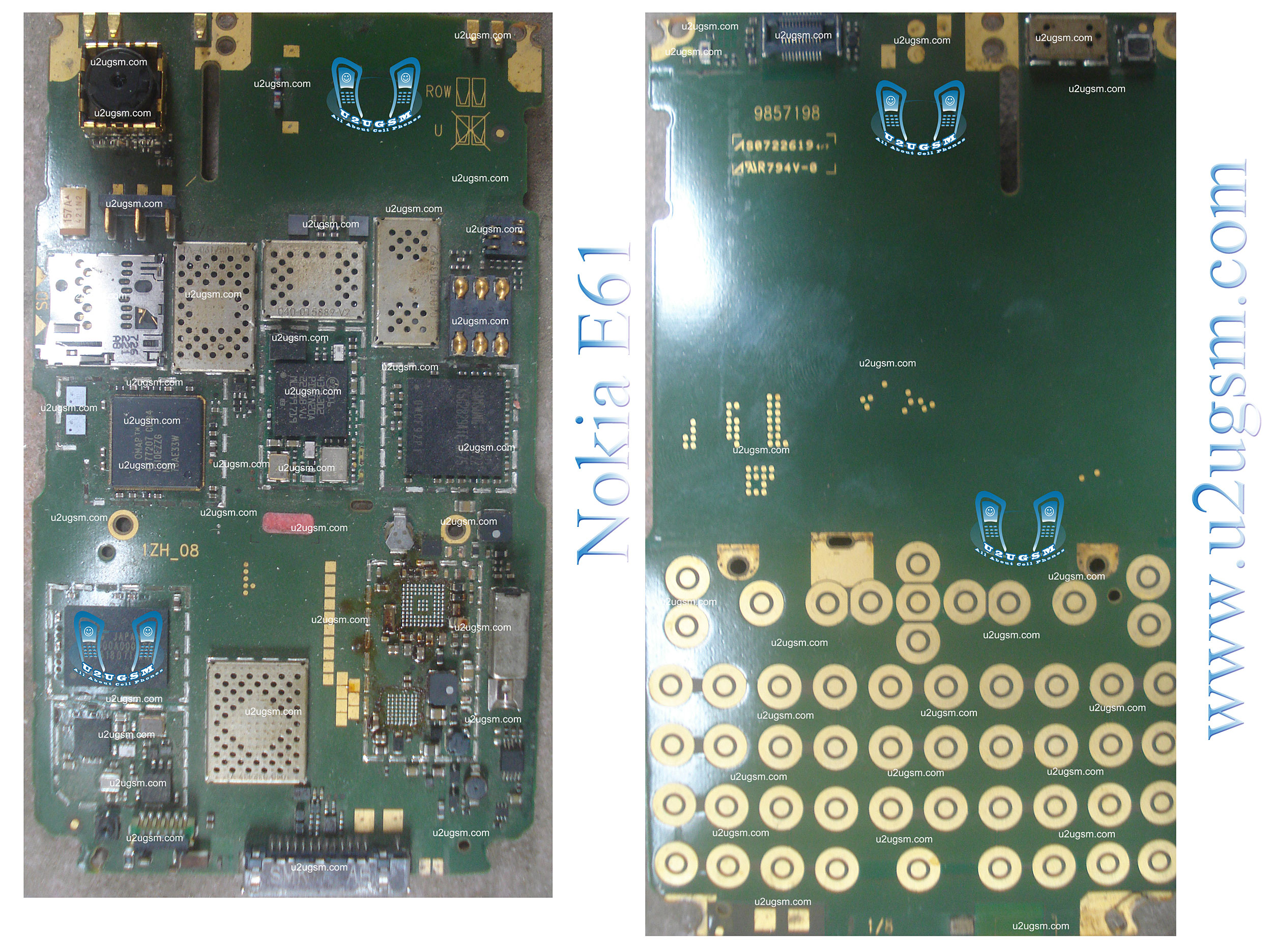 Online Mobile Repairing: Nokia E61 Full PCB Diagram Mother Board Layout