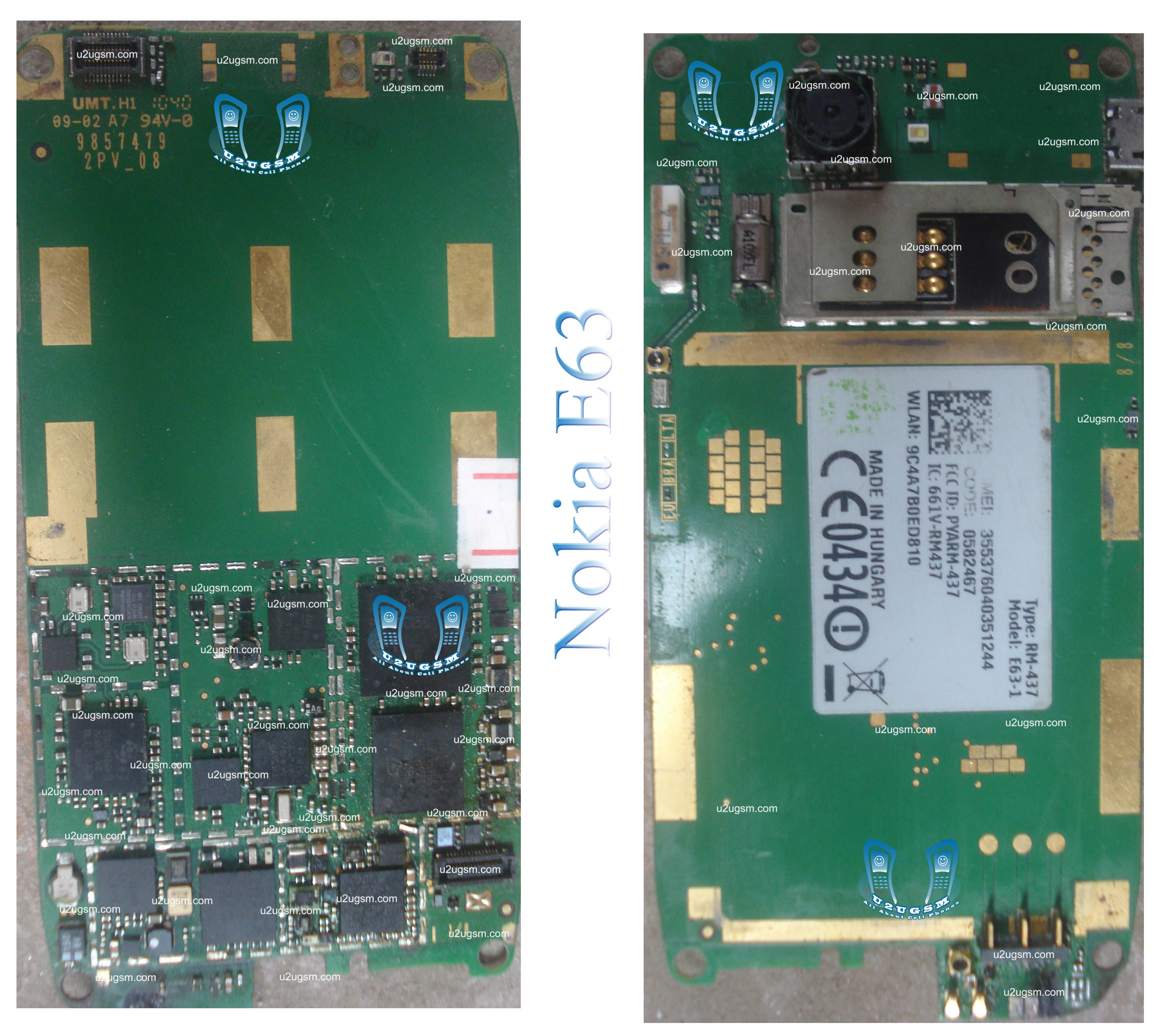 Nokia E63 Full PCB Diagram Mother Board Layoutt
