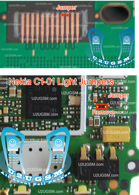 Light not working in Nokia C101 can be solve with this diagram that is