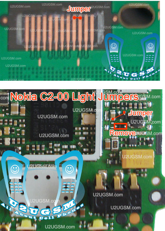 Light not working in Nokia c2-00 can be solve with this diagram that