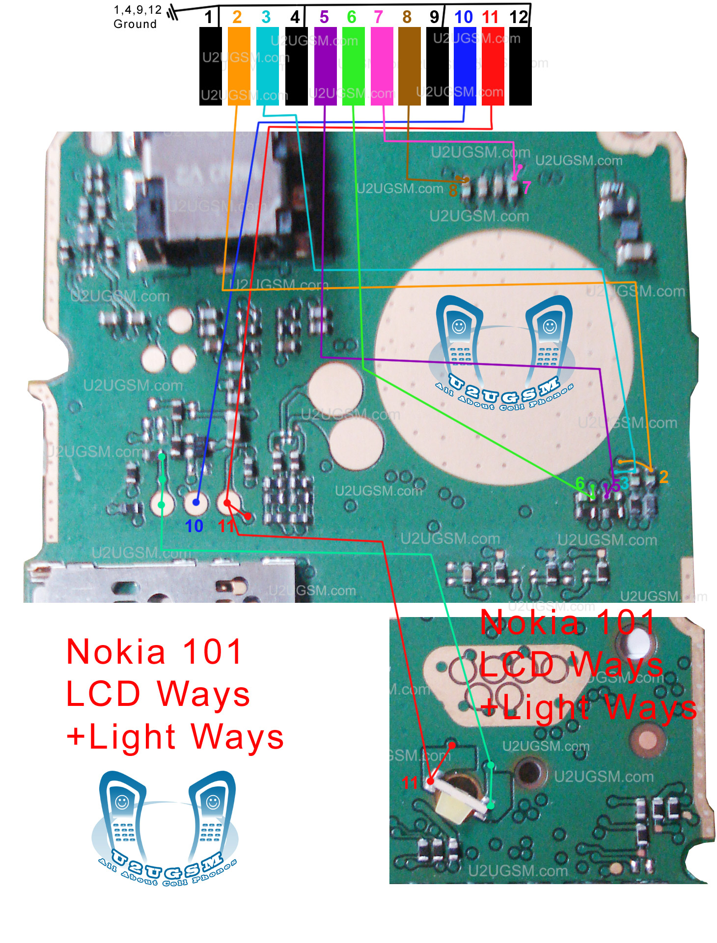 Jumper solution nokia 108 dual sim full lcd line jumper solution nokia - Nokia 100 Lcd Ways Jumpers Solution 100 Tested