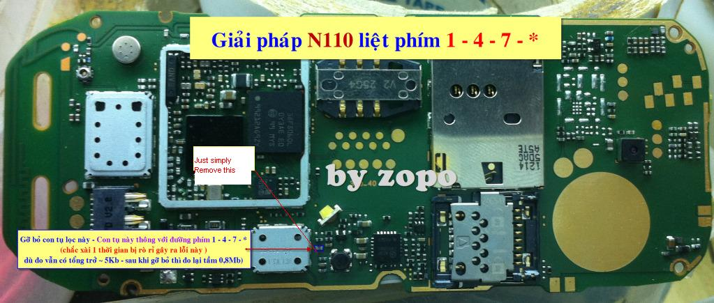 All Cellular Mobile Repair Solution  Nokia 110 Keypad Ic Jumper 1 4 7 Keys Not Working Solution