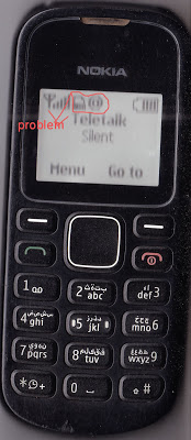 Nokia 1280 miss call and dial call not show when show this symbol