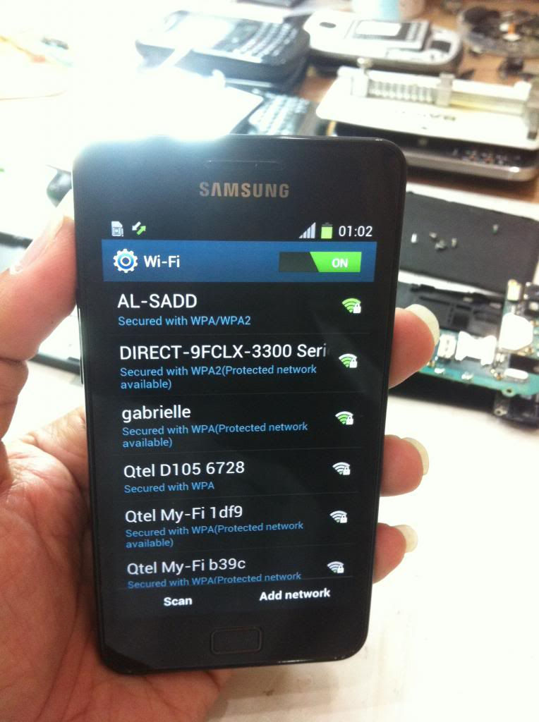 Samsung Galaxy S2 I9100 wifi not working problem solution